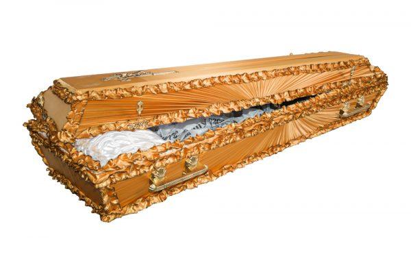 Гроб Луч атлас, золото