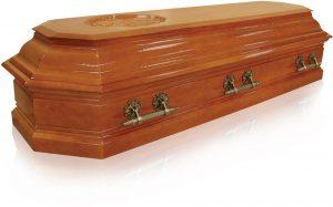 Гроб Пегас 8 граней светлый орех