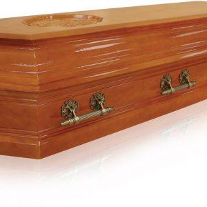 Гроб Пегас 8 граней светлый