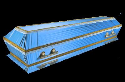 Гроб Траур голубой