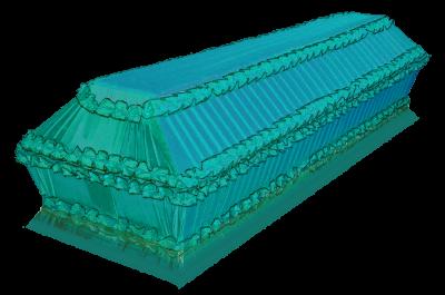 Гроб Полугофре голубой