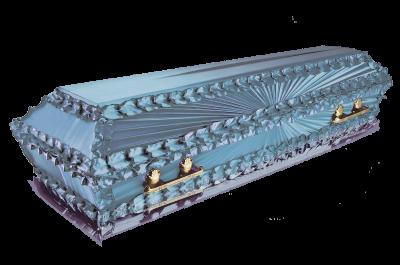 Гроб Луч голубой