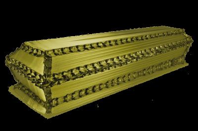 Гроб Гофре продольное зеленый