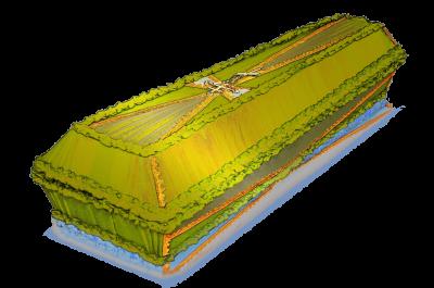 гроб Крест зеленый
