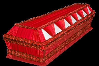 Гроб Президент красный
