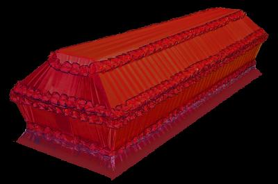 Гроб Полугофре красный