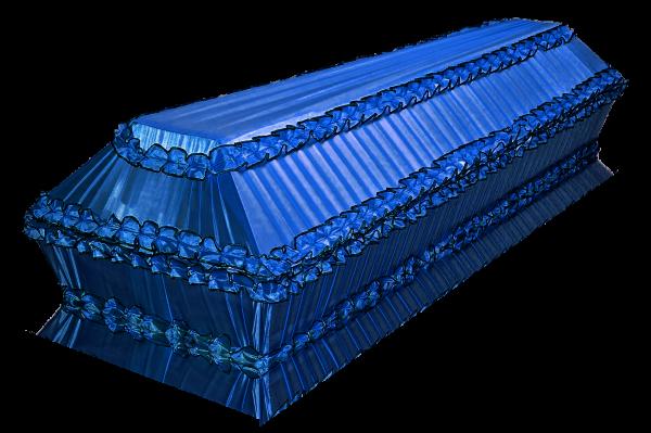 гроб Полугофре синий