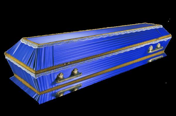 Гроб Траур синий