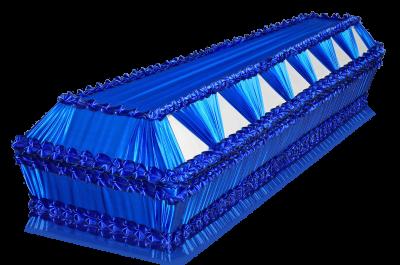 Гроб Президент синий