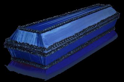 Гроб Гладь синий