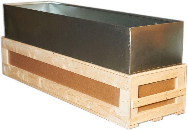 Транспортировочный ящик с цинковым вкладышем