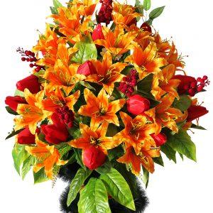 Корзина из цветов на похороны Жардин 1