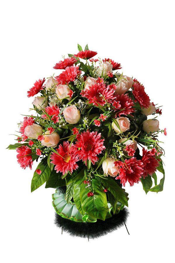 корзина на похороны из искусственных цветов Жардин 2
