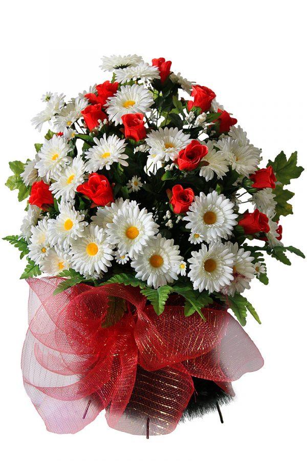 Корзина из искусственных цветов на похороны Жардин 4