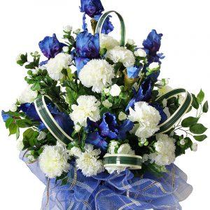Корозина из искусственных цветов на похороны Жардин 5